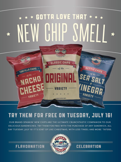 Free Chips on Tuesday