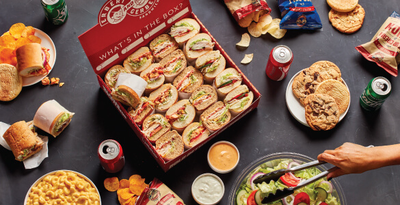 Erbert & Gerbert's Colossus Catering Box of Sandwiches