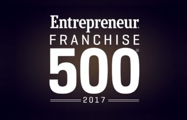 "White text on black background reading ""Entrepreneur Franchise 500 2017"""